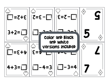 Addition and Subtraction Fact Families SPOONS Game