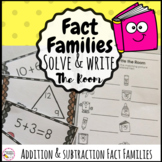 Fact Families Addition and Subtraction Write the Room Math