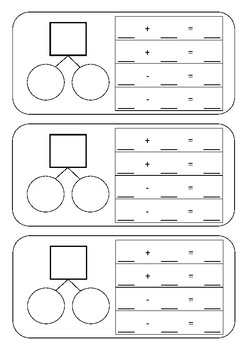 Addition and Subtraction Fact Families Template