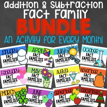 Addition and Subtraction Fact Family Activity Bundle