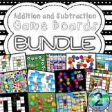 Addition and Subtraction Fact Family Board Games BUNDLE