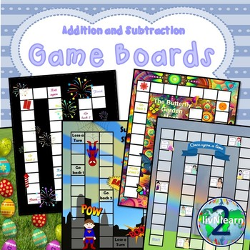 Addition and Subtraction Fact Family Board Games (SET 3)