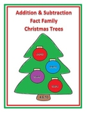 Addition and Subtraction Fact Family Christmas Trees