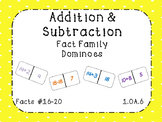 Addition and Subtraction Fact Family Dominoes Bundle