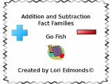 Addition and Subtraction Fact Family Go Fish