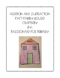Addition and Subtraction Fact Family House Craft