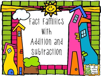Addition and Subtraction Fact Family Houses