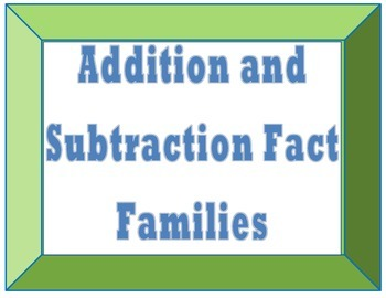 Addition and Subtraction Fact Family Pack