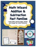 Addition and Subtraction Fact Family Practice and Quizzes