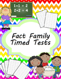 Addition and Subtraction Fact Family Timed Tests