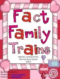 Addition and Subtraction Fact Family Trains- Common Core Aligned
