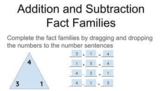Addition and Subtraction Fact Family Triangles