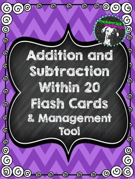 Addition and Subtraction Fact Flash Cards (Within 20) and Management Tool