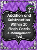 Addition and Subtraction Fact Flash Cards (Within 20) and