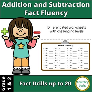 Addition and Subtraction Fact Fluency | Distance Learning