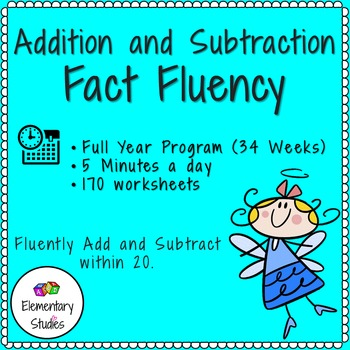Addition Subtraction To 20 Fluency Worksheet Teaching Resources ...