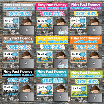 Addition and Subtraction Fact Fluency Bundle using Google Slides