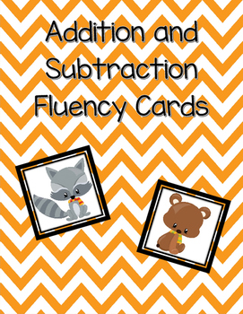 Addition and Subtraction Fact Fluency  Cards