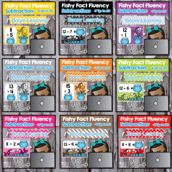 Addition and Subtraction Fact Fluency Digital BOOM CARD BUNDLE