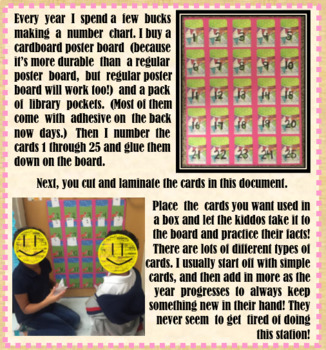 Addition and Subtraction Fact Fluency Math Center (480 CARDS INCLUDED!)