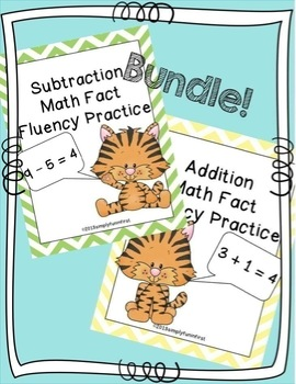 Addition and Subtraction Fact Fluency Practice {Bundle}