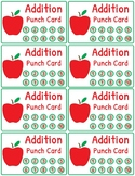 Addition and Subtraction Fact Fluency Punch Cards: Apple Theme
