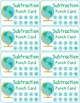Addition and Subtraction Fact Fluency Punch Cards: Travel (Globe) Theme