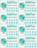 Addition and Subtraction Fact Fluency Punch Cards: Travel