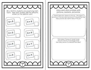 Addition and Subtraction Fact Fluency Student Journal