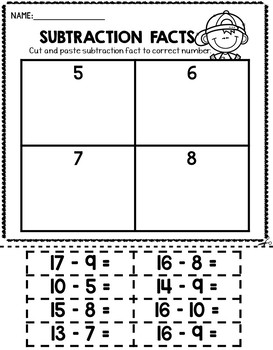 Addition and Subtraction Fact Practice