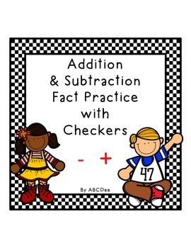 Addition and Subtraction Checkers Game