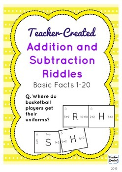 Addition and Subtraction Fact Riddles