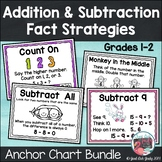 Addition and Subtraction Fact Strategies Anchor Chart Bundle