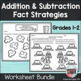 Addition and Subtraction Fact Strategies Worksheet Bundle