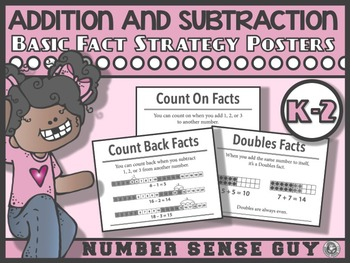 Addition and Subtraction Fact Sttrategy Posters
