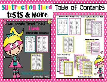 Addition and Subtraction Fact Timed Tests Bundle