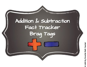 Addition & Subtraction Fact Tracker Brag Tags