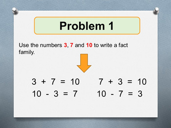 Addition and Subtraction Facts