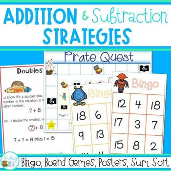 Addition and Subtraction Strategies - games and activities