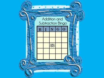 Addition and Subtraction Facts Bingo- Common Core Aligned