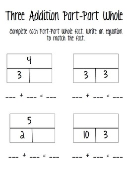 Addition and Subtraction Facts Centers
