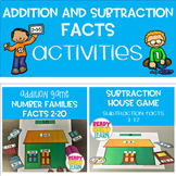 Addition and Subtraction Facts Game Bundle