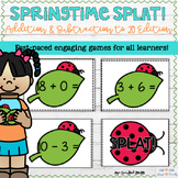 Addition and Subtraction Facts Game Springtime SPLAT!