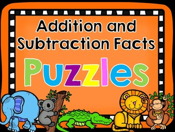 Addition and Subtraction Facts Puzzles