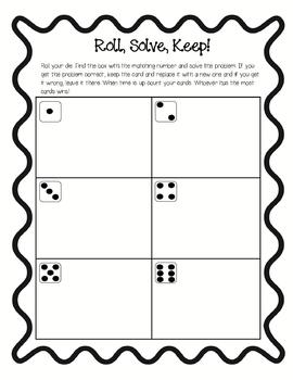 Addition and Subtraction Facts- Roll, Solve, Keep!
