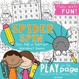 Addition and Subtraction Facts - Spider Spin Worksheet Games