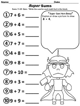 "Addition and Subtraction Facts  ""The Bundle""-cut and paste sheets and quizzes"