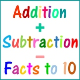 Addition and Subtraction Facts to 10