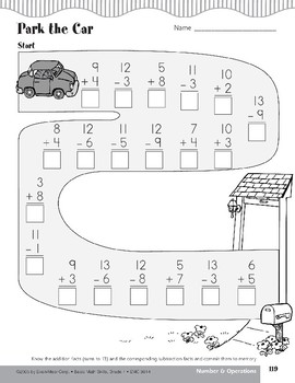 Addition and Subtraction Facts to 13