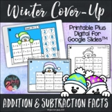 Addition and Subtraction Facts to 20 | Winter Cover-Up Pri